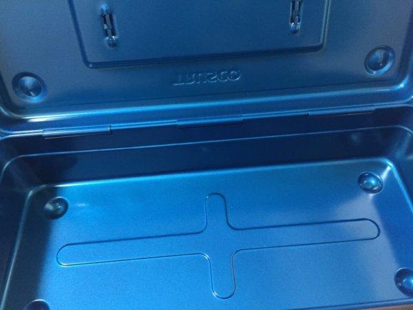 トラスコ中山の日本製スチールツールボックス・ブルーの中
