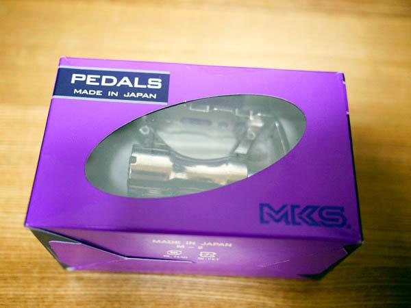 三ヶ島製作所(MKS)のMT-E・シルバーのペダルの外箱