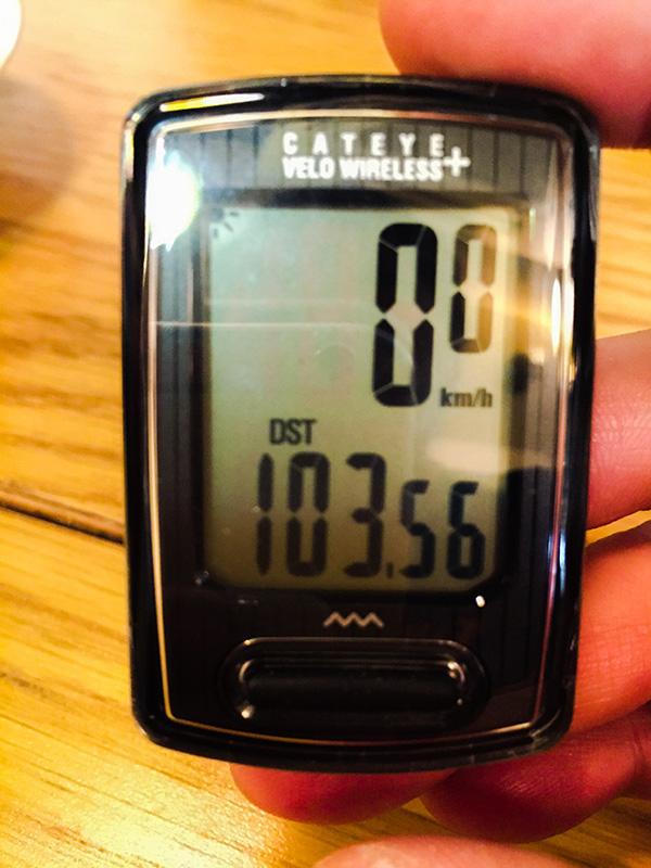 荒川サイクリングロードを走ったサイクルメーターは100kmを超えていた