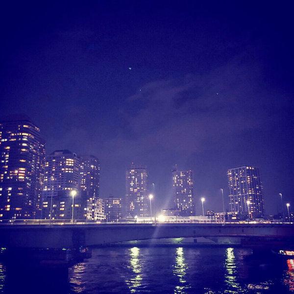 築地・月島あたりの夜景