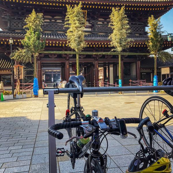 クロスバイクでお正月の初詣や厄除けで有名な川崎大師