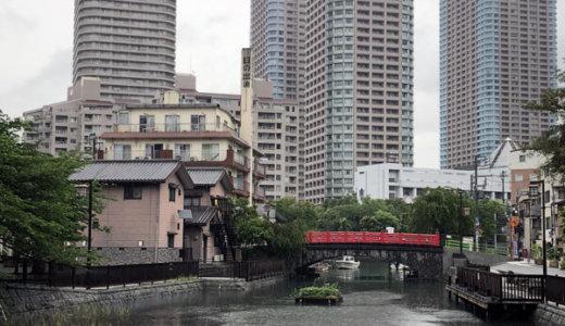 雨の日の東京・佃島の住吉神社(龍神社)へ